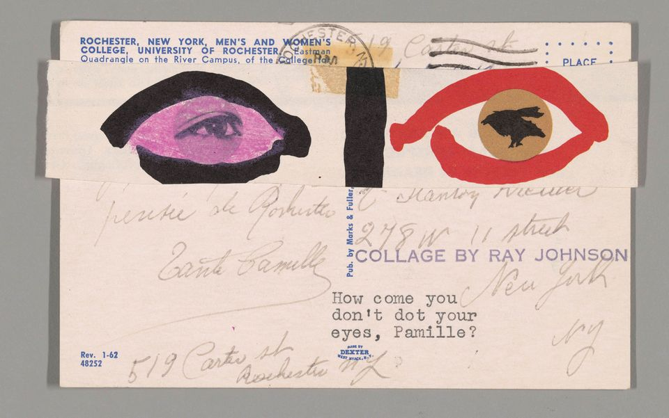 A piece of mail art by Ray Johnson Untitled 1965 Art Institute of Chicago