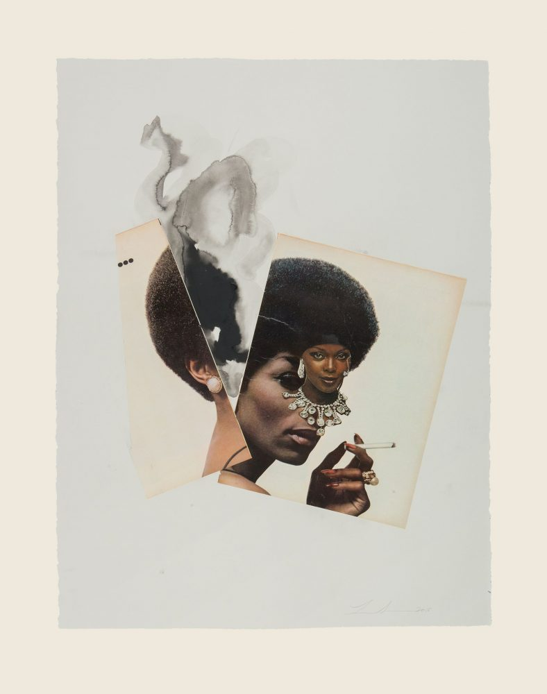 Lorna Simpson RiunireIce 20 2018 collage and ink on paper scaled